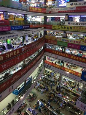 Electronics market in Huaqiangbei