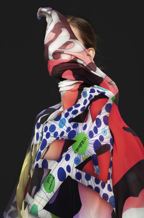 Metahaven, WikiLeaks scarf, 2011. Photo: Meinke Klein.