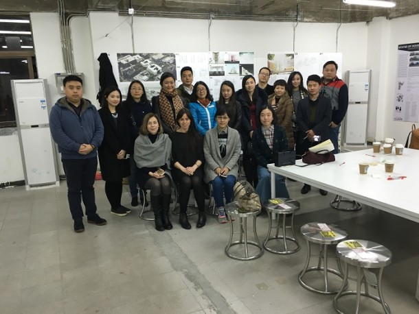 V&A and Design Society staff with the Chinese school teachers discussion group