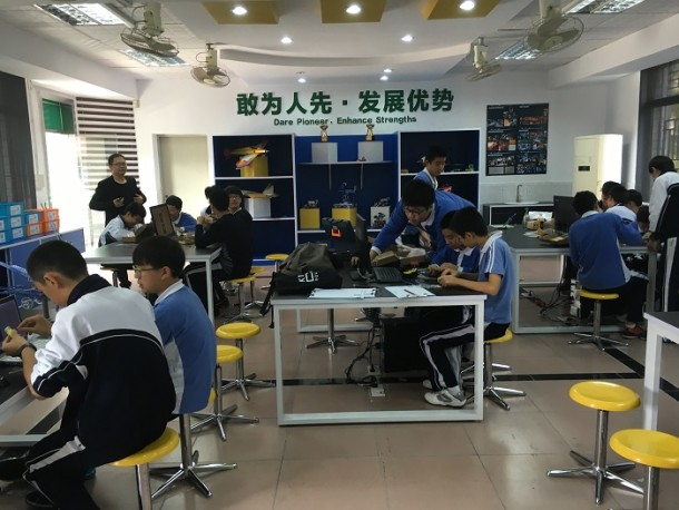 Maker education at Shenzhen Middle School
