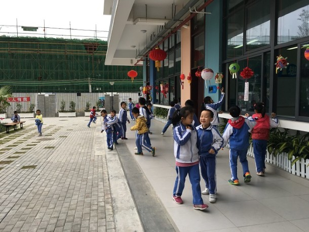 Lunchtime at Harbour Primary School, Shenzhen